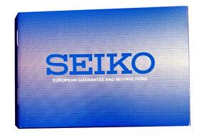 Seiko-Azul-Europeo-de-Garantia-y-las-instrucciones-Libro-Nuevo-Original-Autentico