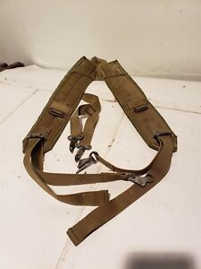 07401aadc8cb7 Details about Good US Military LC-1 2 ALICE Suspenders Web Belt Green Y  Straps Load Bearing