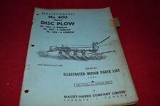 Massey Ferguson Harris 400 Disc Plow Dealer's Parts Manual RWPA