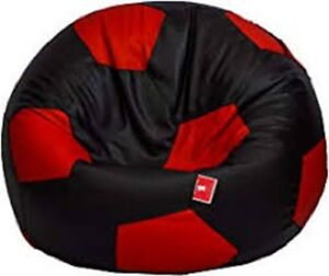 Details About Football Soccer Ball Bean Bag Chairs Cover Indoor Sofa Seat Jumbo Size 100 C M