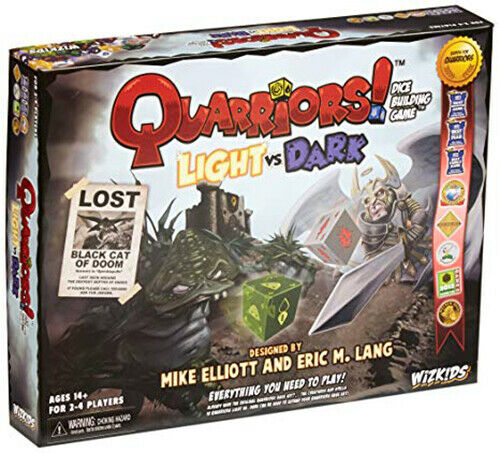 #NEW Light vs Dark Dice Building // Board Game WizKids QUARRIORS!