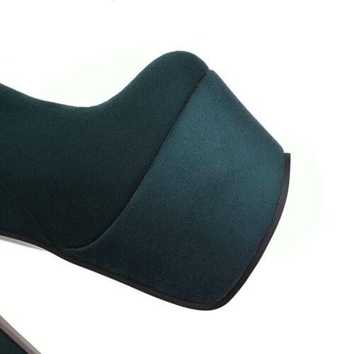Details about  /Sexy Women/'s Evening Thigh Overknee Tall Long Boots Platform Block High Heel L