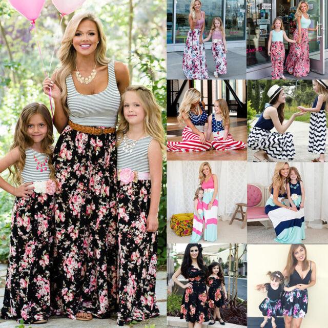 Mother and Daughter Dress Christmas Matching Mom Girl Madi Dress Family Skirt