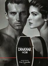 Publicité Advertising 1990  Parfum  DRAKKAR NOIR  de  GUY LAROCHE