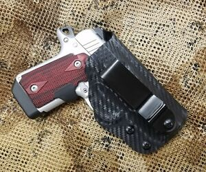 Details about GUNNER's CUSTOM HOLSTERS fits Kimber Micro 9 & Micro 9 ESV  IWB Holster