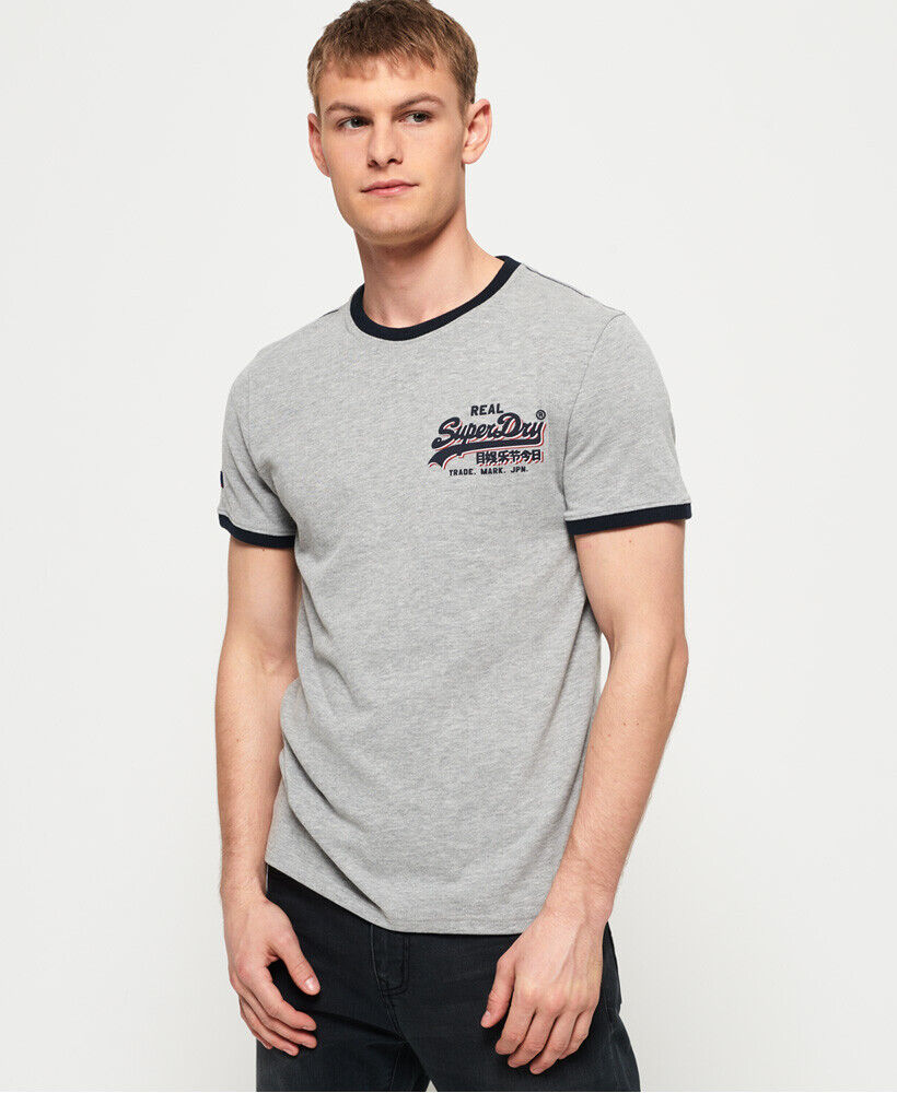 Superdry Mens Vintage Logo Monochrome T-Shirt
