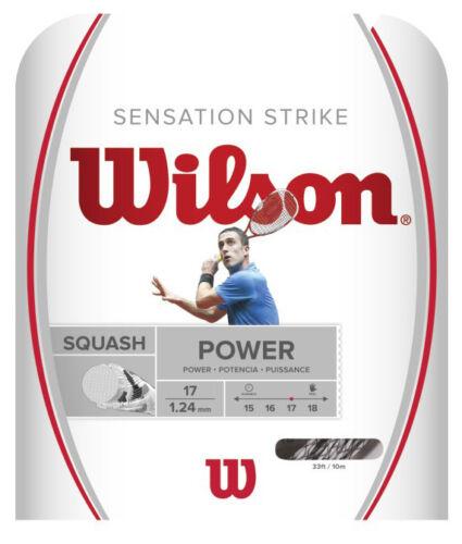 1.24mm Squash String 10m set Wilson Sensation Strike 17 White Black