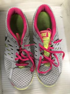 58bfb60ea9d4 Nike Flex Fitsole 2013 Womens Running 580440-015 Pink and Gray ...