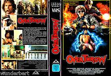 """VHS - """" OVERTHROW """" (1987) - Lewis Van Bergen - John Phillip Law"""