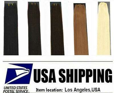 USA STOCK ! REMY WEFT (Without Clip )100% HUMAN HAIR EXTENSIONS 20-22In. 30-100G