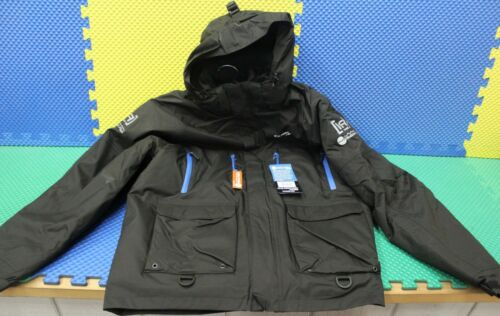 Blue Zippers Clam Outdoors Ice Armor Rise Black Float Parkas CHOOSE YOUR SIZE!