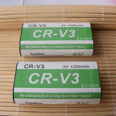 2X Rechargeable Battery for Kodak RCR-V3 CR-V3 PANASONIC PANASONIC PENTAX