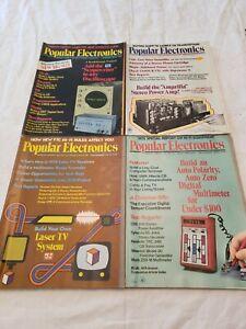 Lot of Popular Electronics Magazines 1974, August, September, November, December