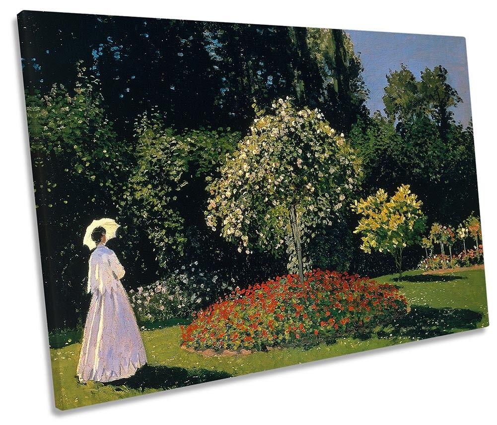 Claude Monet the Garden SINGLE CANVAS WALL ART Print