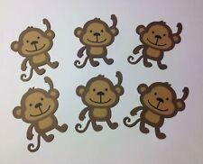 "Set of  10 Monkeys Die Cuts Party Decorations, Scrapbooki 5"""