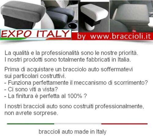 Bracciolo PEUGEOT 2008 2013-2019 MADE IN ITALY-appoggiagomito -eco pelle nera