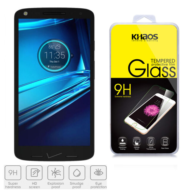 KHAOS Motorola Droid Turbo 2 HD Tempered Glass Screen Protector