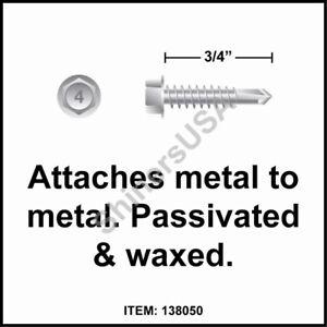 5000 Self Drilling Zinc Screw 6-20 x 1-5//8 TEK 2 Square Drive Trim Head 137930