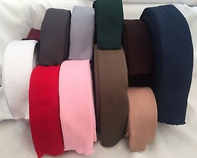Elasticized Tubular Polyester Cuffing Fabric For Sweatshirt Joggers Sleeve Cuff