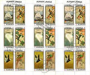 Ajman 1971 World Conservation Des Oiseaux Timbres Commémoratifs En Pleine Feuille Cto-afficher Le Titre D'origine Apparence Attractive