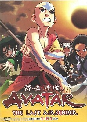 DVD Avatar The Last Airbender Complete Ep. 1-61 End (ENGLISH Version) dca