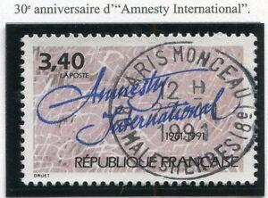 Grosses Soldes Stamp / Timbre France Oblitere N° 2728 Amnesty International Haute Qualité