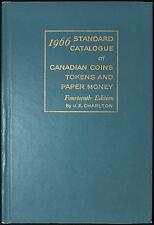 1966 Standard Catalogue of Canadian Coins & Paper Money by J.E. Charlton 14th Ed