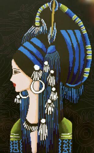 Stickpackung Weibliche Pharao 44x62cm Frau Ägypten Orient Vorlage Sticken #80257