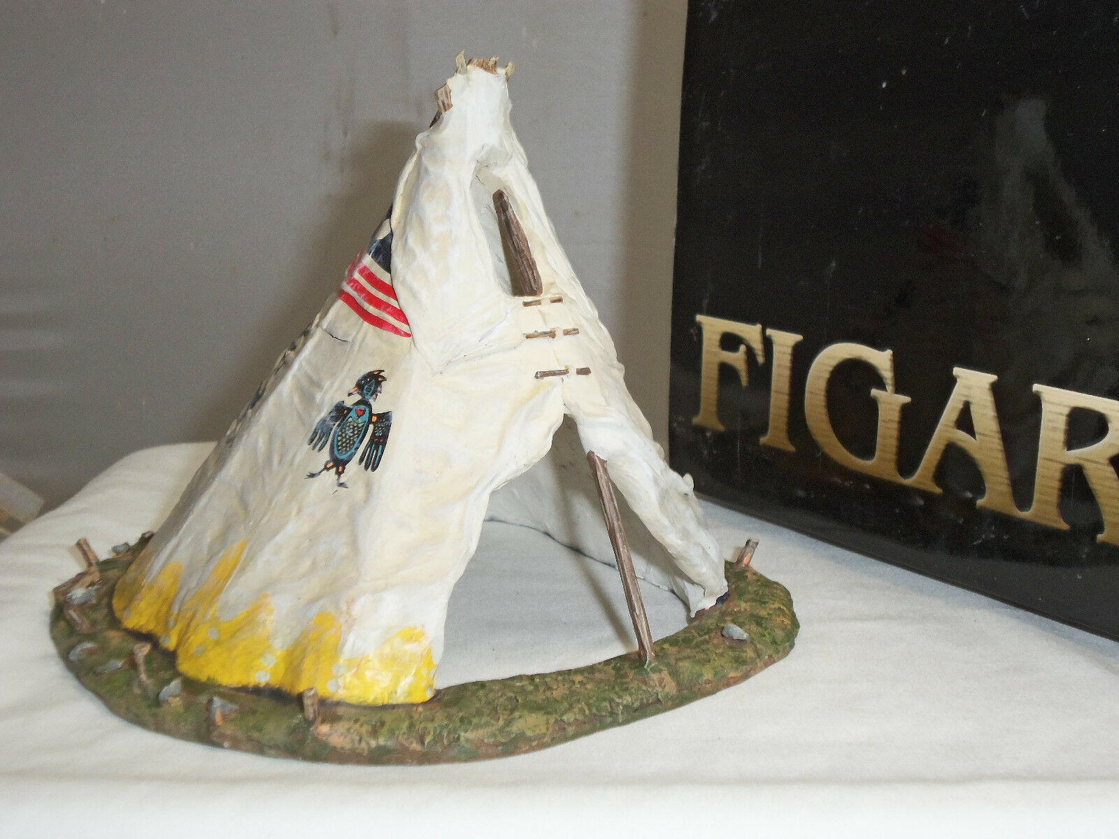 FIGARTI LC1009 US WILD WEST AMERICAN INDIAN WIGWAM METAL TOY SOLDIER TIPI TENT