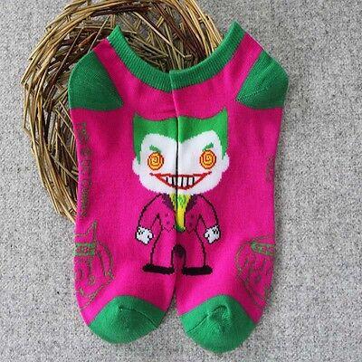 Trendy Anime cool Cosplay Superman Batman Cotton Blend Short Women Men Socks Hot