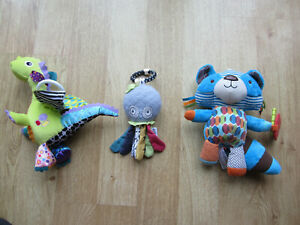 Lamaze Mamas & Papas Skip hop Baby Toys Bundle Dragon Octopus Racoon Landau Jouets
