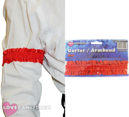 1920S RED ARMBAND GARTER ACCESSORY VICTORIAN FANCY DRESS COSTUME ACCESSORY