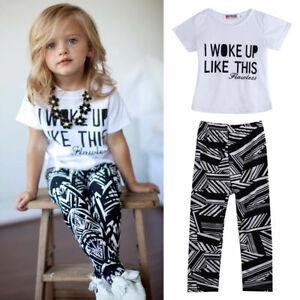Traje De Nina Me Desperte Ropa Para Bebes 2 Piezas Blusa Pantalon Ebay