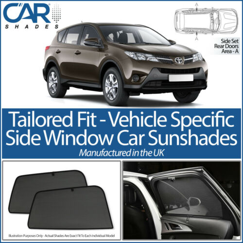 TOYOTA RAV 5DR 12-18 CAR SHADES UK TAILORED UV SIDE WINDOW SUN BLINDS