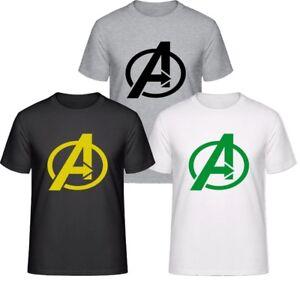 Avengers-Famous-Infinity-Film-de-guerre-Logo-T-Shirt-hommes-amp-femmes-tee