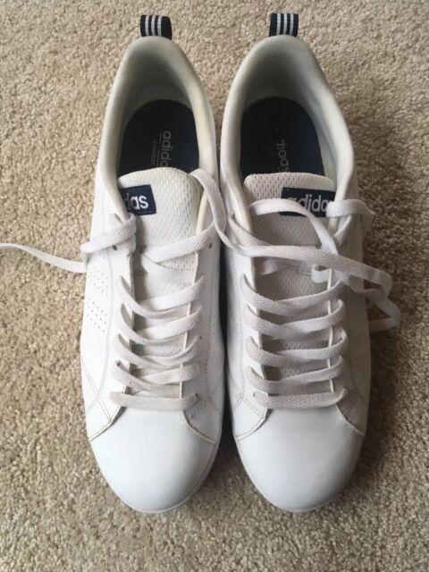 ADIDAS NEO Men's Advantage Clean VS Sneaker White Blue Sz 11 1/2