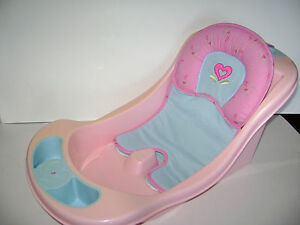 american girl bitty baby twins doll bathtub bath tub seat pink blue retired ebay. Black Bedroom Furniture Sets. Home Design Ideas