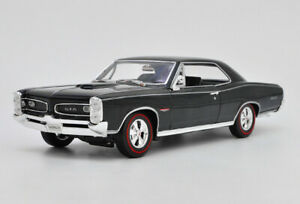 1-18-Welly-1966-Pontiac-GTO-Diecast-Alloy-collection-Car-Model-Black-GIFT