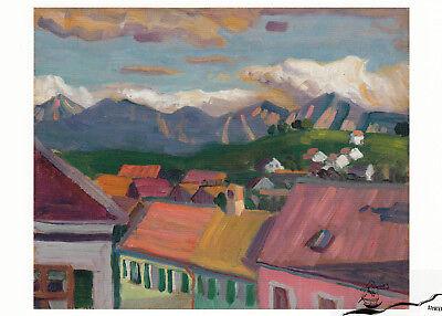 Postcard Art Kunstkarte Sinnende Gabriele Münter