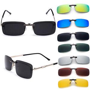d7eae8cc6eb Men s Polarized Sunglasses Clip On Driving Glasses Day Night Vision ...