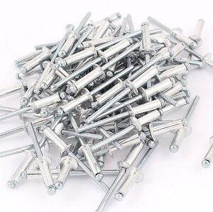 50 st ck aluminium blindnieten flachkopf nieten popnieten verschiedene ma e ebay. Black Bedroom Furniture Sets. Home Design Ideas