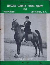 "1965 LINCOLN COUNTY HORSE SHOW (LINCOLNTON, NORTH CAROLINA) ""OUR MAJOR LEE"" CVR"