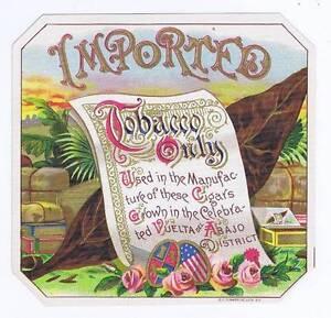 Importé, Original Externe Cigare Boîte Label, Roses Iqjjjmzd-07223825-493115282