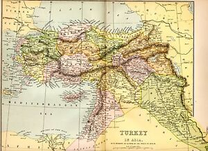Boundary Map Of Asia.Details About 1880 Print Map Turkey In Asia Boundary As Altered By Treaty Of Berlin