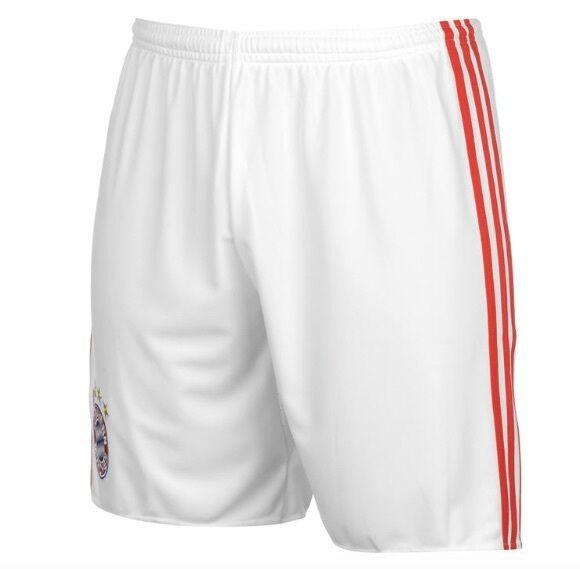 Adidas FC Bayern München Heim Home Pantalons Shorts white red 2017