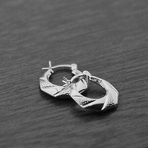 Image Is Loading 925 Sterling Silver Textured Wrap Creole Hoop Earrings