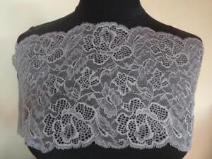 Französische elastische Spitzenborte,Spitze,Lace,stretsch in schwarz 6cm breit