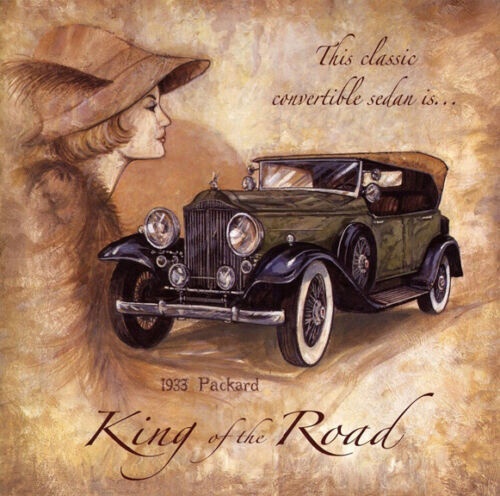 """King Of The Road 1933 Packard Ad Replica 12 x 12/"""" Photo Print"""