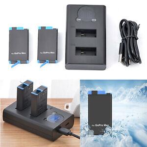 Cargador-de-Bateria-Dual-Para-GoPro-MAX-Action-Camera-Charger-1400mAh-Battery