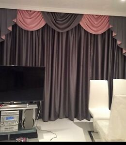 Image Is Loading DESIGNER CURTAINS SWAGS Amp TAILS PLAIN SILVER GREY